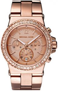0547314baf72 Michael Kors Women s Rose Gold Dial Stainless Steel Band Chronograph Watch   MK5412