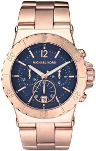 2b6f9f026a7 Michael Kors Dylan Women s Blue Dial Stainless Steel Band Chronograph Watch  - MK5410