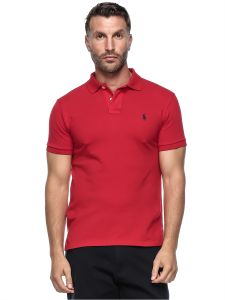 Polo Ralph Lauren Men\u0027S Short Sleeve Mesh Custom Fit Polo - Medium, Red