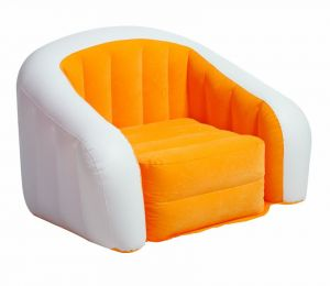Intex 68571 Inflatable Cafe Club Chair Orange And White