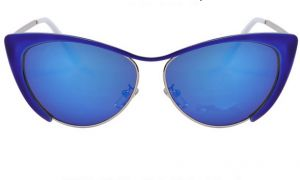 6fb753954d Fashion personality cat eyes big half frame sunglasses for women royalblue  2517-4