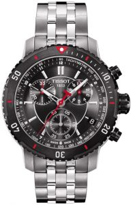 879b3d604 Tissot Swiss Made Men's PRS 200 Black Dial Stainless Steel Band Chronograph  Watch - T0674172105100