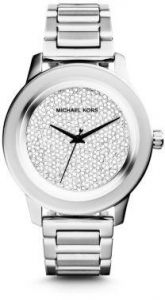 516a56b75870 Michael Kors Kinley Women s Silver Pave Dial Stainless Steel Band Watch -  MK5996