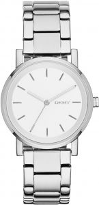 624b7c3bd0956 DKNY SoHo Women s White Dial Stainless Steel Band Watch - NY2342