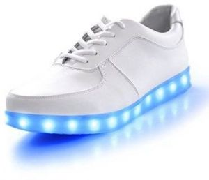 5c121f729f4 LED unisex sneakers USB rechargeable light for men women flat shoes