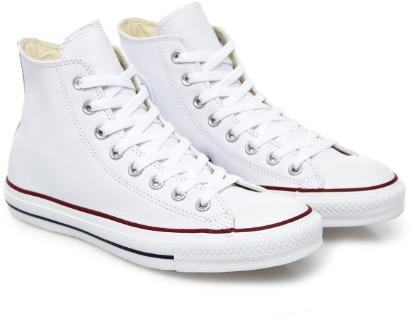 098086746679c Converse Chuck Taylor All Star Leather Hi Top Sneakers, Unisex - 37.5 EU,  White