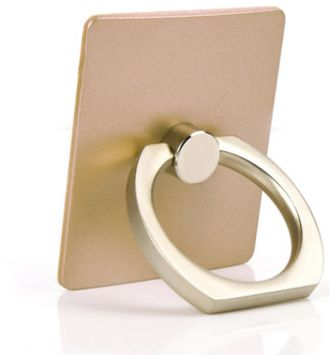 Metal Finger Ring Holder Grip Stand for ALL Mobile Phone / Tablet with 360  Degree - Gold