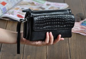 512b340f15 Large-capacity handbag multifunction Clutch Zipper wallet crossbody bag  clutch for women Q88 black