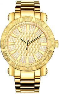 543def580 JBW 562 Men's 12 Diamonds Gold Dial Gold-Plated Stainless Steel Band Watch  - JB-6225-M