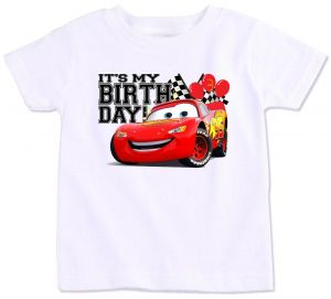 Disney Pixar Cars Lightning Mcqueen With Its My Birthday T Shirt 8 To 9 Years