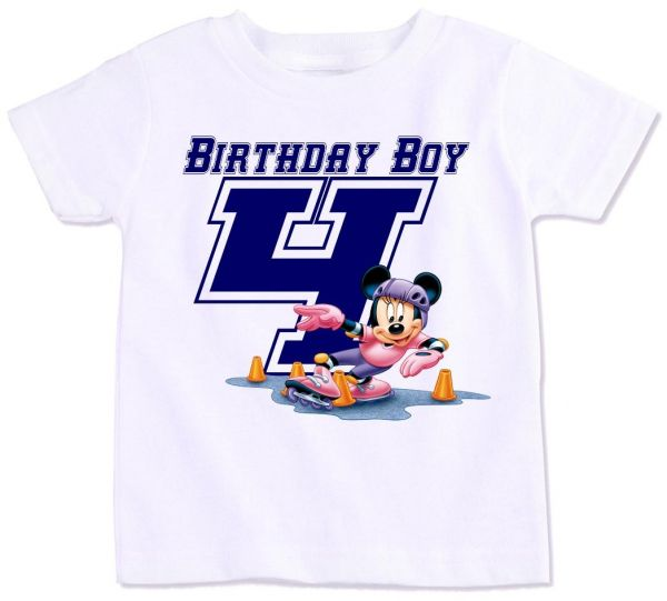 Mickey Mouse With Birthday Boy 4 T Shirt