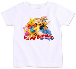 Pooh And Friends Its My Birthday T Shirt 6 To 7 Years