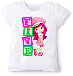 Strawberry With Five Birthday T Shirt