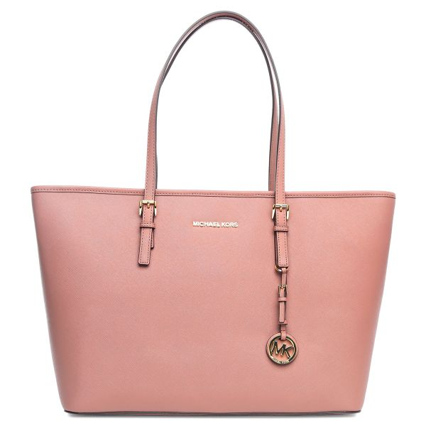 f17f67feb582 Michael Kors 30T5GTVT2L-673 Jet Set Travel Saffiano Top-Zip Tote Bag ...
