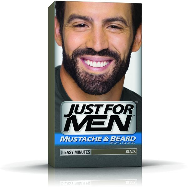 Just for Men Mustache & Beard Brush-In Color Gel - Black | Souq - UAE
