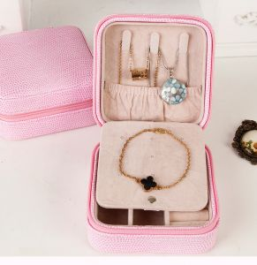 516a83b92 Portable jewelry display box makeup organizer jewelry container and casket  gift box