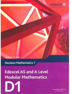 Edexcel AS and A Level Modular Mathematics Decision Mathematics 1 D1 by Susie Jameson - Paperback