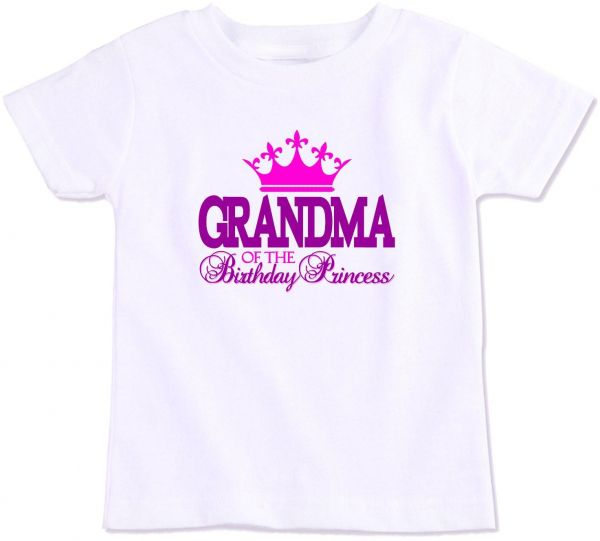 Grandma Of The Birthday Princess Family Matching T Shirt Small