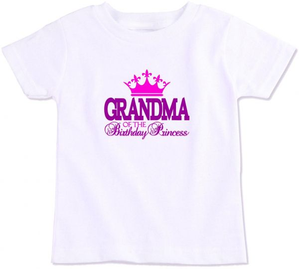 Grandma Of The Birthday Princess Family Matching T Shirt XXL