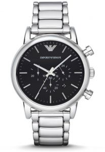 cbd1b760974 Emporio Armani Classic Men s Black Dial Stainless Steel Band Watch - AR1894