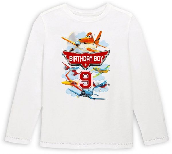 Disney Planes Birthday Boy 9 Long Sleeved T Shirt