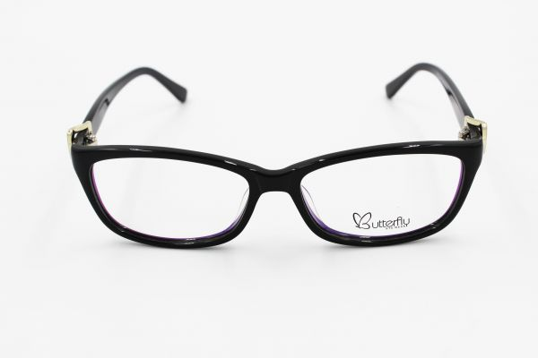 fe218b976260 Butterfly Medical Glasses for Girls - Black, 30176 | KSA | Souq
