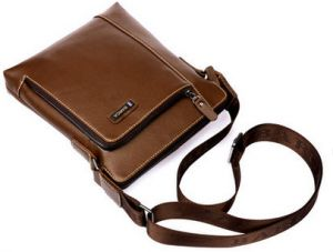 Fashion leather casual cross body bag and single shoulder bag for men khaki  BC07-1 76996264f5f16