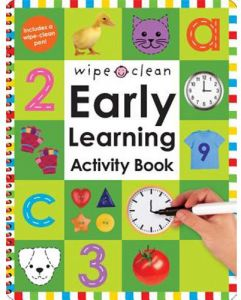 Wipe Clean Early Learning Activity Book by Roger Priddy - Hardcover
