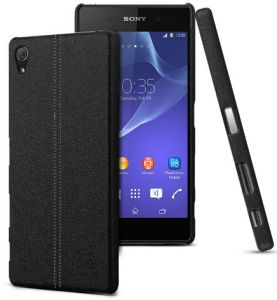 iMAK Sony Xperia Z5 Premium Z5 Plus Ruiyi Series Back Case Cover - Black