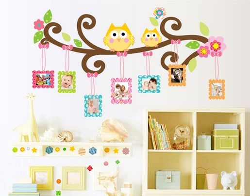 Family Picture Photo Frame Wall Art Stickers Vinyl Decals Home Decor ...