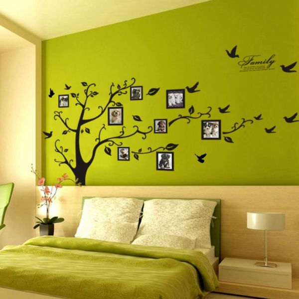 Souq | Photo Frame Tree Wall Art Stickers Vinyl Decals Home Decor ...