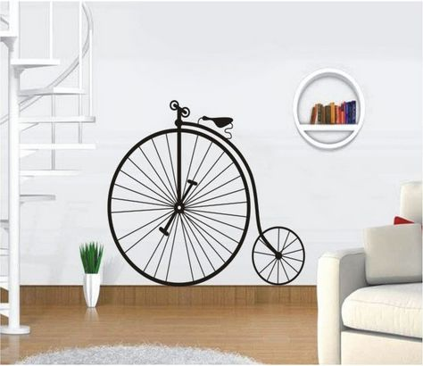 Bicycle Wheel Wall Sticker For Bedroom Decor Removable Decals Vinyl Stickers Home