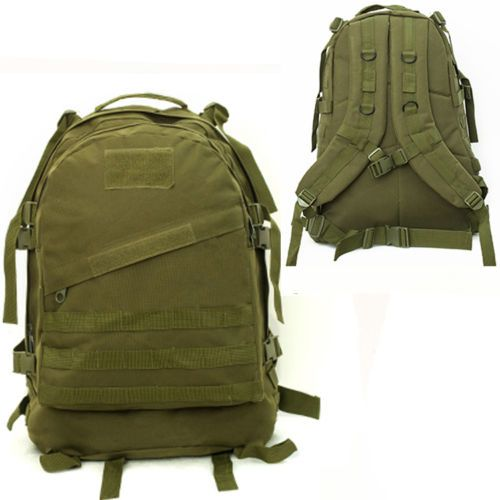 4481cfd3c8 40L Molle 3D Tactical Outdoor Military Rucksack Backpack Bag Camping Hiking  Army Green Color
