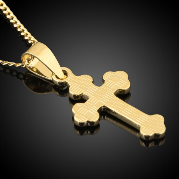Buy arabic style gold cross pendant necklace golden chain collar for arabic style gold cross pendant necklace golden chain collar for women men unisex mozeypictures Image collections