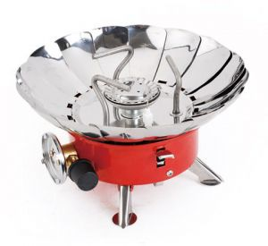 Mini Outdoor Windproof Camping Stove Gas-Powered Portable Picnic Stove Stainless Steel By ARTC
