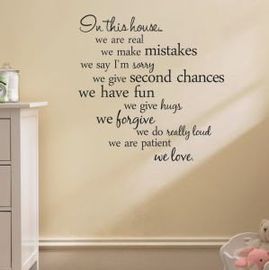 house rules quote wall stickers home decor living room diy wall art decals removable sticker | Souq - UAE
