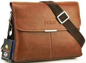 Videng Polo Travel Messenger Laptop Bag For Men Leather Brown