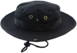e2692fd3f0389 Bucket Hat Boonie Hunting Fishing Outdoor Cap - Wide Brim Military Boonie  Hat black