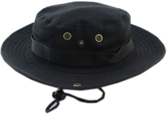 e98e2b060bc Bucket Hat Boonie Hunting Fishing Outdoor Cap - Wide Brim Military Boonie  Hat black