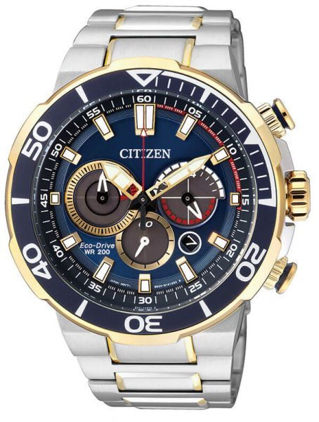 c457f152f54d Citizen CA4254-53L Eco-drive Chronograph Mens Watch Gold Stainless ...