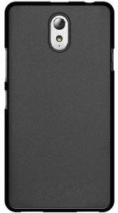 TPU Silicon jelly Back cover for Lenovo Vibe P1m With LCD Protector [Black Color]