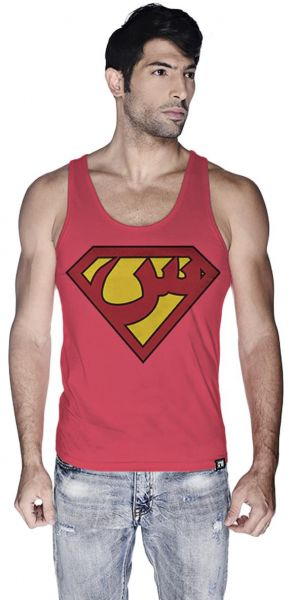 1a9cb30e17fa3b Creo Superman Arabic Super Hero Tank Top For Men - L
