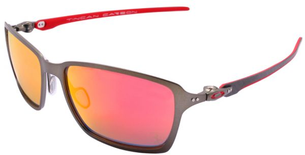 813039b268 OAKLEY TINCAN TITANIUM SCUDERIA FERRARI CARBON GRAY POLARIZED MEN ...