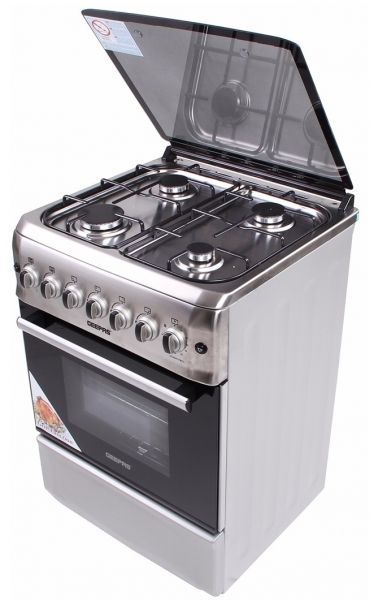 Geepas Gas Cooking Oven 4 Burners Stainless Steel Gcr6052fmst