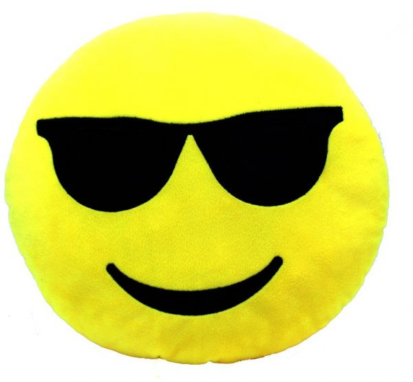 Cute Emoji Pillow Smiley Emoticon Yellow Round Cushion Cool
