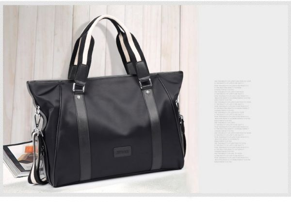 cd4c51465b Men casual wave handbag shoulder bag Messenger bag waterproof nylon  computer packages BY-58 Black