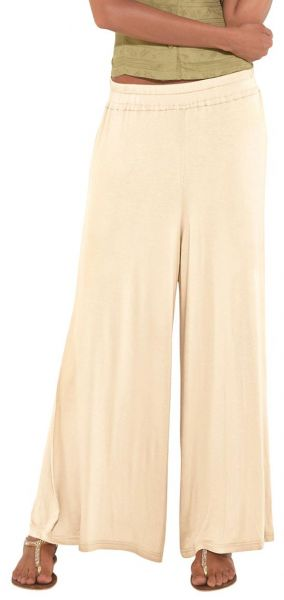 008081b75 Go Colors Palazzo Pants for Women - Free Size, Cream | KSA | Souq