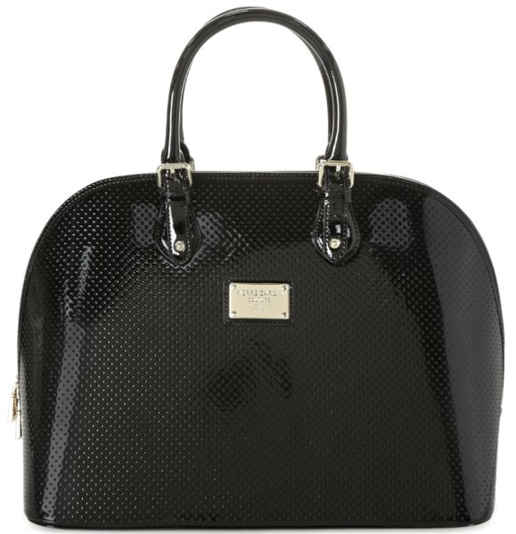 Pierre Cardin Shiny Perforated Top Handle Bag for Women - Leather, Black    Souq - UAE 46913c3ffa