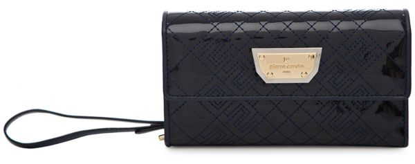 a0a664a36d6b Pierre Cardin Quilted Patterned Wristlet for Women - Leather