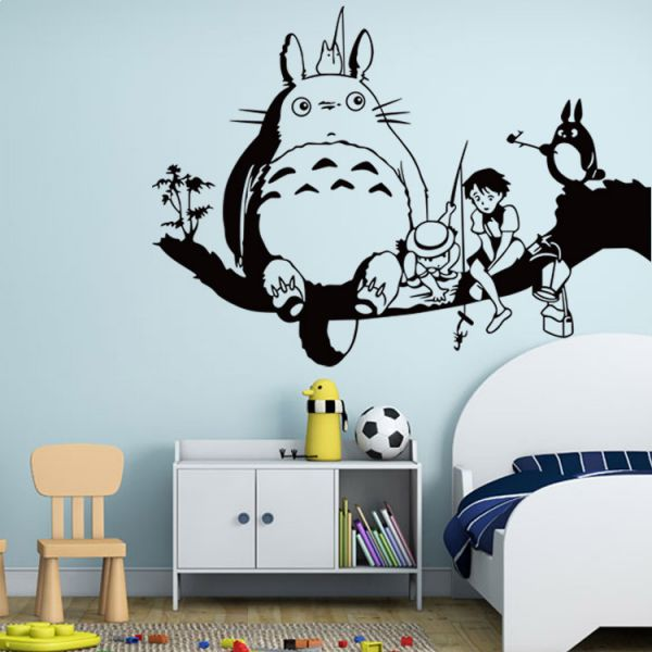 totoro wall stickers for kids rooms decals home decor wall sticker